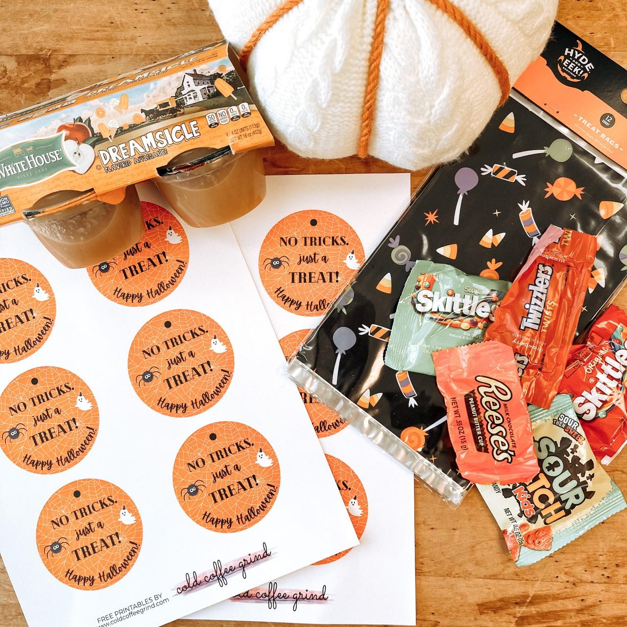 Halloween Goodie Bag Tie DIY